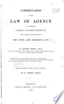 Commentaries on the Law of Agency as a Branch of Commercial and Maritime Jurisprudence Book PDF