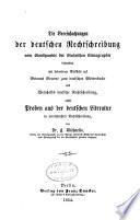 Die Vereinfachungen der deutschen Rechtschreibung vom Standpunkte der Stolzeschen Stenographie beleuchtet