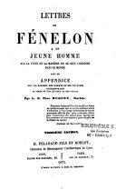Lettres de Fénelon à un jeune homme