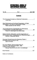Ebook International journal of contemporary sociology Epub N.A Apps Read Mobile