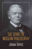 The Spirit of Modern Philosophy: An Essay in the Form of Lectures