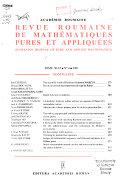 Revue roumaine de mathématiques pures et appliques