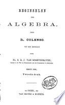 Beginselen der algebra