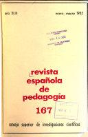 Revista espa  ola de pedagog  a