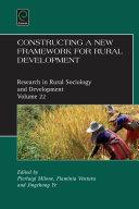 Constructing a new framework for rural development