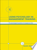 Using Psychology In Management Training