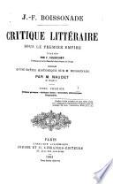 Critique littéraire sous le premier, empire
