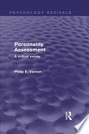 Personality Assessment Psychology Revivals