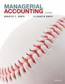 Managerial Accounting 2E with WileyPlus Card