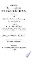 Allgemeine Geographische Ephemeriden book