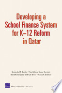 Developing a School Finance System for K        12 Reform in Qatar