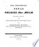 Des Proph  Jonas Orakel   ber Moab