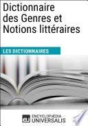 Dictionnaire des Genres et Notions litt  raires