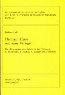 Hermann Hesse und seine Verleger