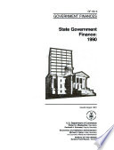 State government finances in