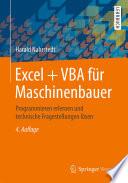 Excel   VBA f  r Maschinenbauer