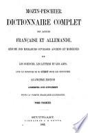 Dictionnaire complet des langues fran  aise et allemande