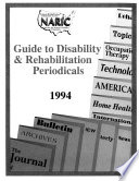 Guide To Disability And Rehabilitation Periodicals