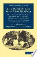 The Lore of the Whare w  nanga