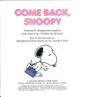 Come Back, Snoopy : by giving him a job, snoopy packs...