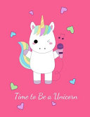 Unicorn For 1 Year Old Girl Notebook