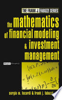 The Mathematics Of Financial Modeling Investment Management Frank J Fabozzi 2004