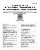 Revista de la Academia colombiana de ciencias exactes  f  sicas y naturales