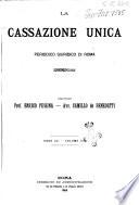 La Cassazione unica periodico giuridico di Roma  Parte penale