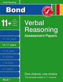 Bond Verbal Reasoning Assessment Papers 10 11  Years