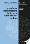 Intercultural communication in German Dutch business contexts