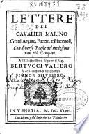 Lettere del caualier Marino