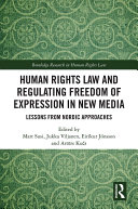 download ebook human rights law and regulating freedom of expression in new media pdf epub