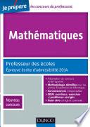 Mathématiques - Professeur des écoles - Épreuve écrite d'admissibilité 2014