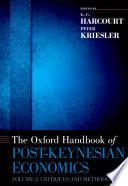 The Oxford Handbook of Post Keynesian Economics  Volume 1
