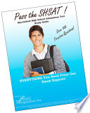 Pass the SHSAT  Specialized High School Admissions Test study guide and practice test questions