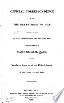 Official Correspondence with the Department of War