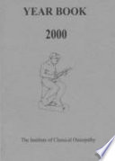 Institute Of Classical Osteopathy Year Book 2000
