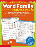 Write And Learn Word Family Practice Pages