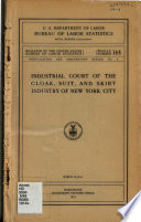 Industrial Court of the Cloak  Suit  and Skirt Industry of New York City
