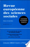 Cumulativit   des savoirs en sciences sociales  Xe colloque annuel du Groupe d    tude  Raison et Rationalit  s   la