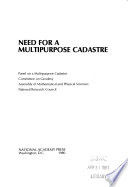 Need for a Multipurpose Cadastre