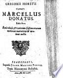 G. Horstii του μακαριτου M. Donatus, Editio nova ... aucta