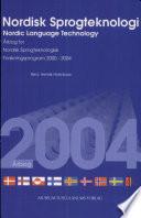 Nordisk Sprogteknologi 2004