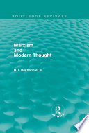 Marxism and Modern Thought