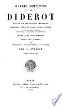 uvres compl  tes de Diderot  Philosophie  Belles lettres  pt  1  Romans  contes  critique litt  raire