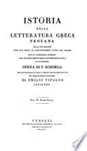 Istoria della Letteratura Greca Profana