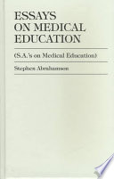 Essays on Medical Education