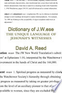Dictionary of J. W. Ese