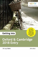 Getting Into Oxford and Cambridge 2018 Entry