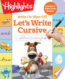 Book Write On Wipe off Let s Write Cursive